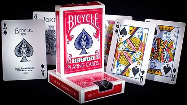 Bicycle Rider Back Playing Cards in Mixed Case Red/Blue