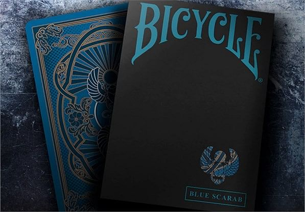 Bicycle Scarab (Blue) Playing Cards - magic