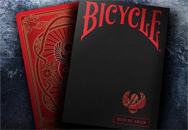 Bicycle Scarab (Red) Playing Cards - magic