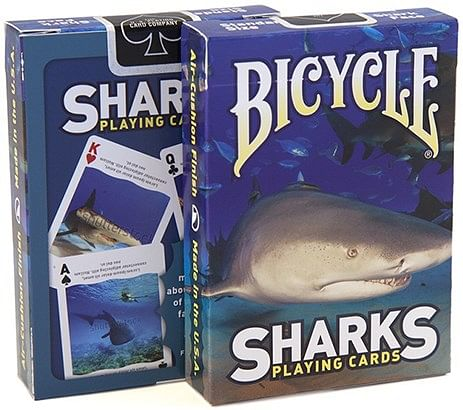Bicycle Sharks Playing Cards - magic
