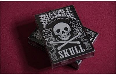 Bicycle Skull Playing Cards (Metallic Silver)
