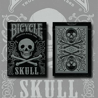 Bicycle Skull Playing Cards (Metallic Silver) - magic