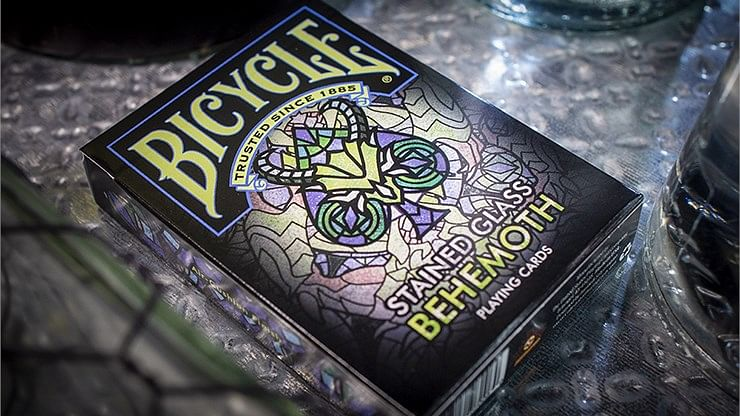 Bicycle Stained Glass Behemoth Playing Cards - magic