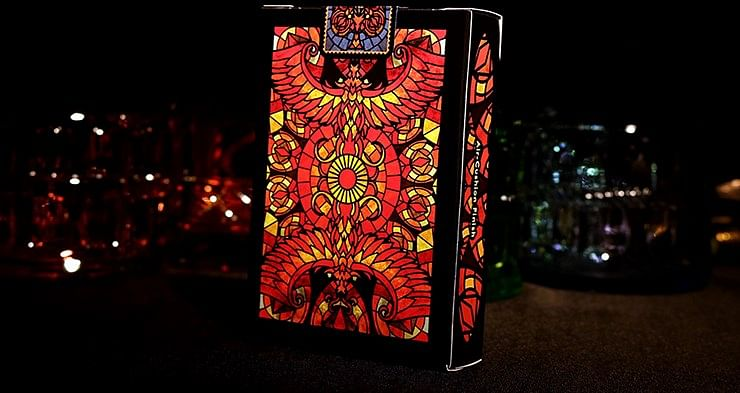 Bicycle Stained Glass Phoenix Playing Cards