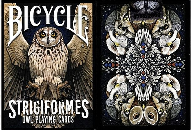Bicycle Strigiformes Owl Playing Cards - magic