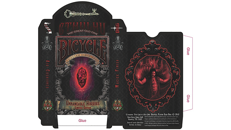 Bicycle Unnameable Horrors Limited Edition Playing Cards - magic