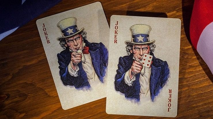 Bicycle U.S. Presidents Playing Cards (Democratic Blue)