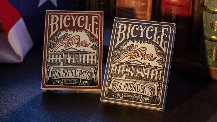 Bicycle U.S. Presidents Playing Cards (Democratic Blue) - magic