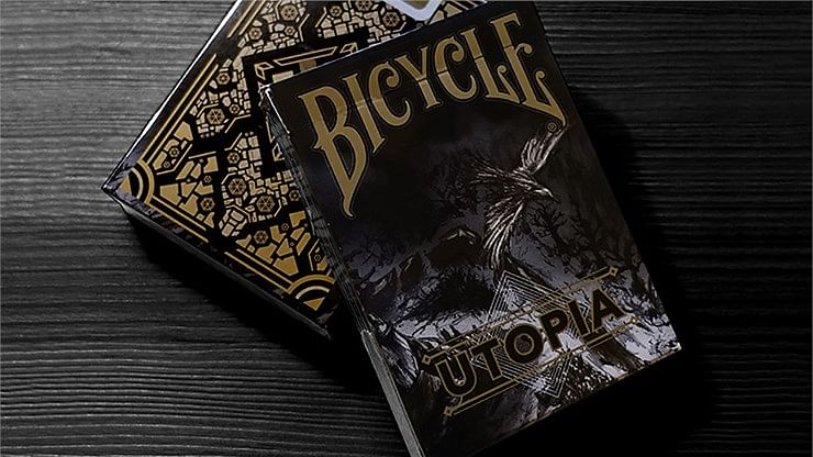 Bicycle Utopia Black Gold Playing Cards - magic