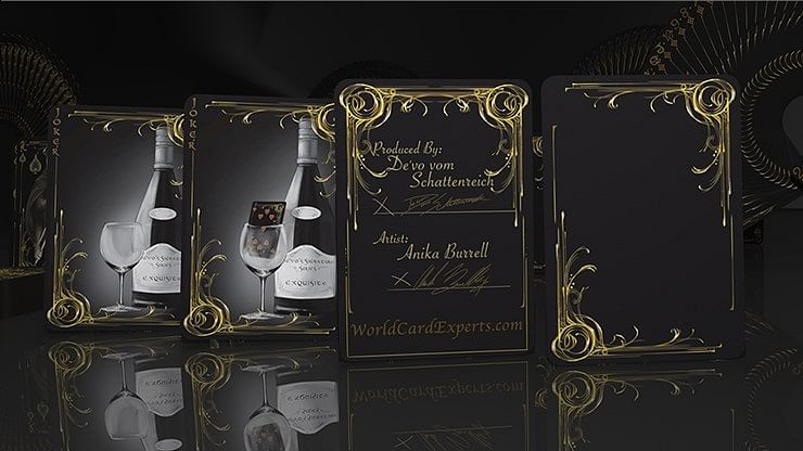 Black Exquisite Special Players Edition Playing Cards