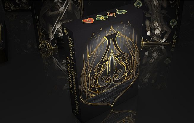 Black Exquisite Special Players Edition Playing Cards - magic