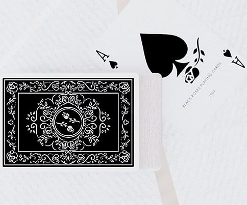 Black Roses Playing Cards