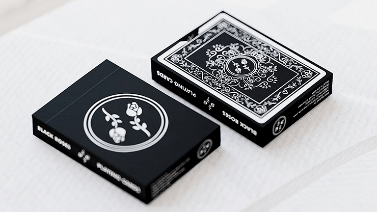 Black Roses Playing Cards - magic