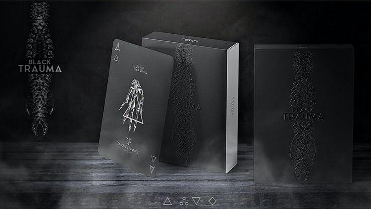 Black Trauma Playing Cards - magic