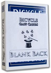 Blank Back Bicycle Cards - magic