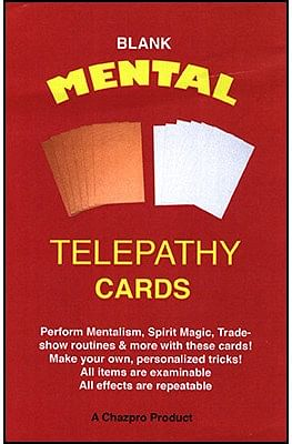 Blank Mental Telepathy Cards - magic