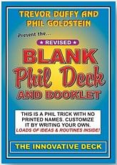 Blank Phil Deck - magic