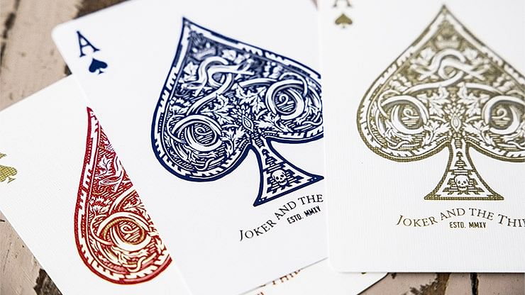 Blood Red Edition Joker and the Thief Playing Cards