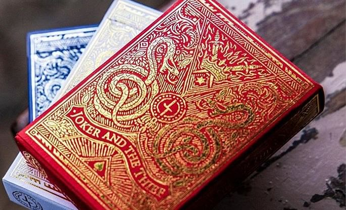 Blood Red Edition Joker and the Thief Playing Cards  - magic