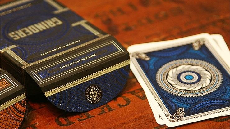 Grinders Blue Playing Cards