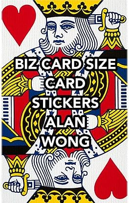 Business Card Stickers - magic