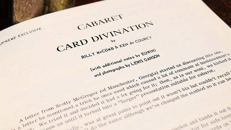 Cabaret Card Divination