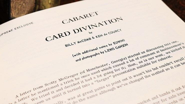 Cabaret Card Divination