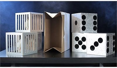 Cages and Dice from Paper Bag