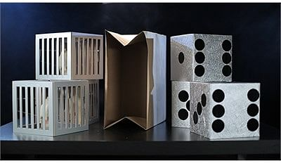 Cages and Dice from Paper Bag - magic