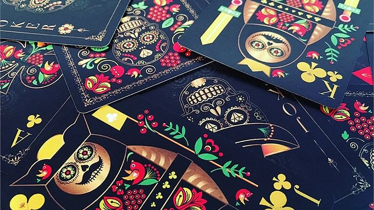 Calaveras de Azúcar Black Edition Playing Cards