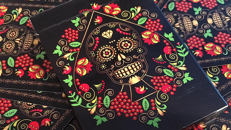 Calaveras de Azúcar Black Edition Playing Cards - magic