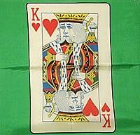 """Card Silk 18"""" (King of Hearts) - magic"""