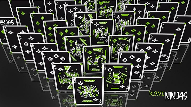 Cardistry Kiwi Ninjas  Playing Cards