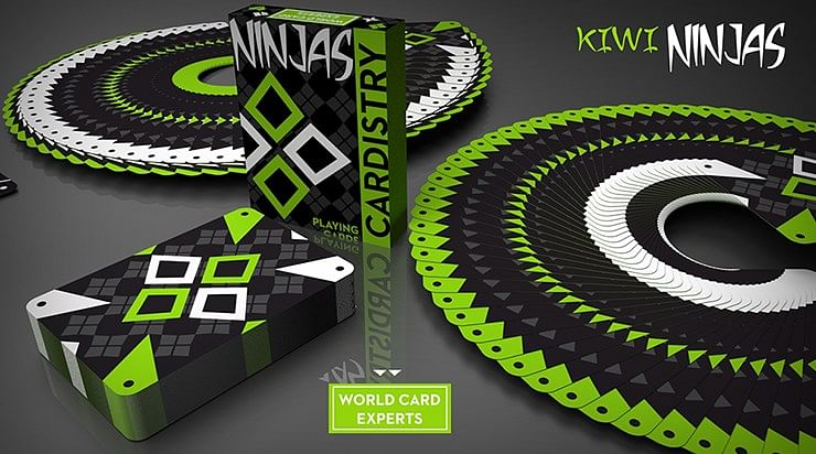 Cardistry Kiwi Ninjas  Playing Cards - magic