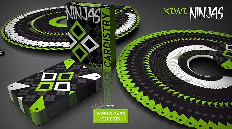 Cardistry Kiwi Ninjas  Playing Cards - magic