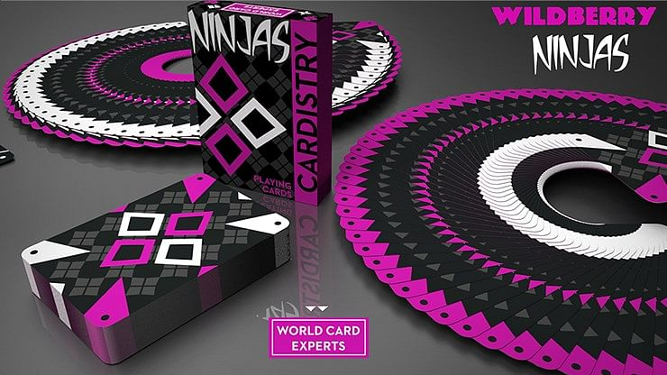 Cardistry Ninjas Wildberry Playing Cards  - magic