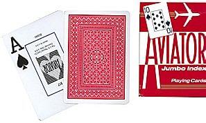 Aviator Jumbo Index Playing Cards - magic