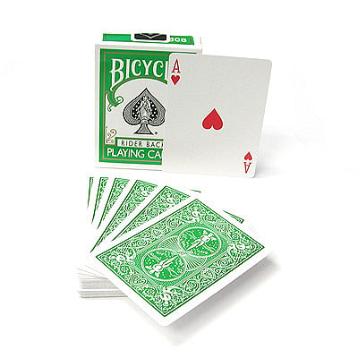Bicycle Green Playing Cards - magic