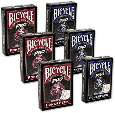 Bicycle Pro Poker Peek Playing Cards - 6 PACK  USPCC - magic