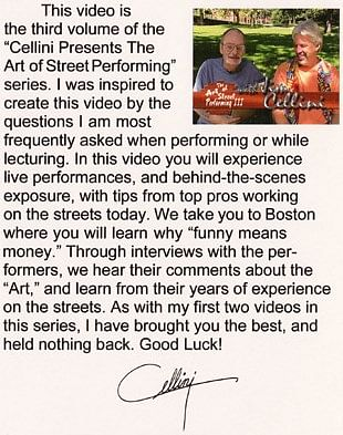 Cellini Art Of Street Performing Volume 3