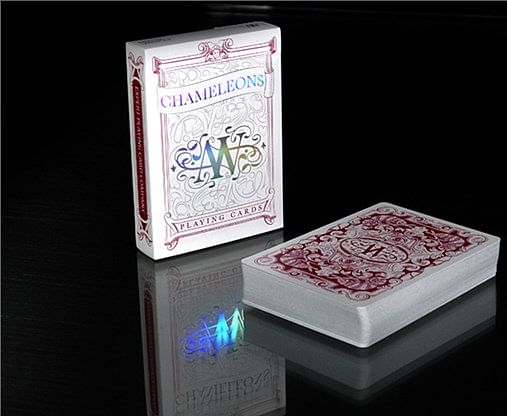 Chameleon Playing Cards (Red) - magic