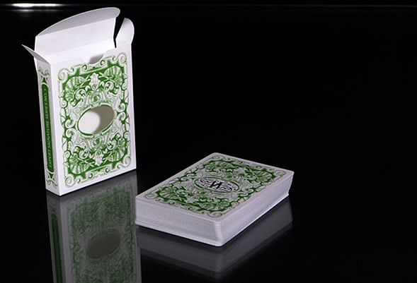 Chameleon Playing Cards signed By Asi Wind (Green)