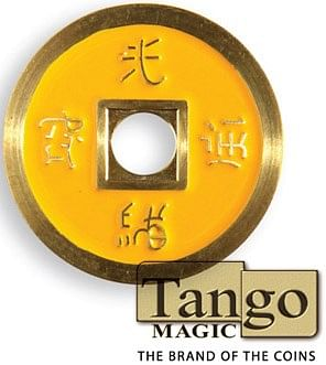 Chinese Coin  Black & Yellow