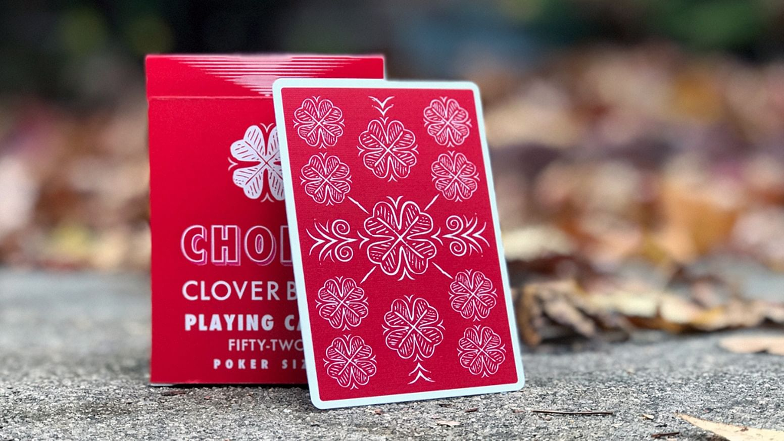 Choice Cloverback  Playing Cards (Red)
