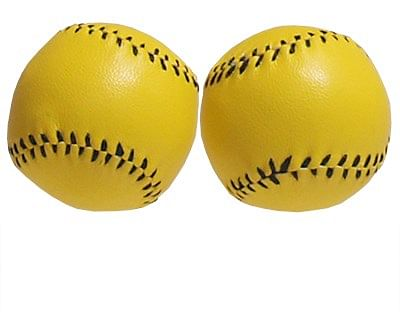 Chop Cup Balls - Yellow Leather - magic