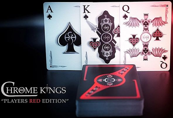 Chrome Kings Playing Cards (Players Red Edition)