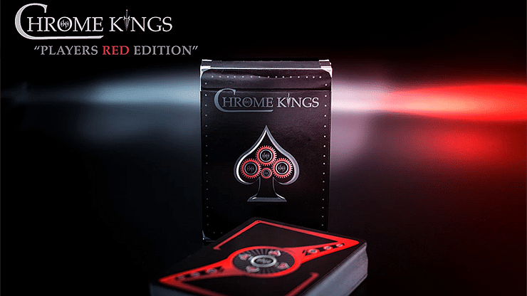 Chrome Kings Limited Edition Playing Cards (Players Red Edition) - magic