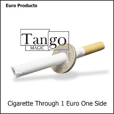 Cigarette thru Coin - 1 Euro - magic