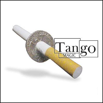 Cigarette thru Coin - Quarter Dollar - Premium - magic