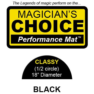 Classy Close-Up Mat (BLACK - 18 inch) - magic